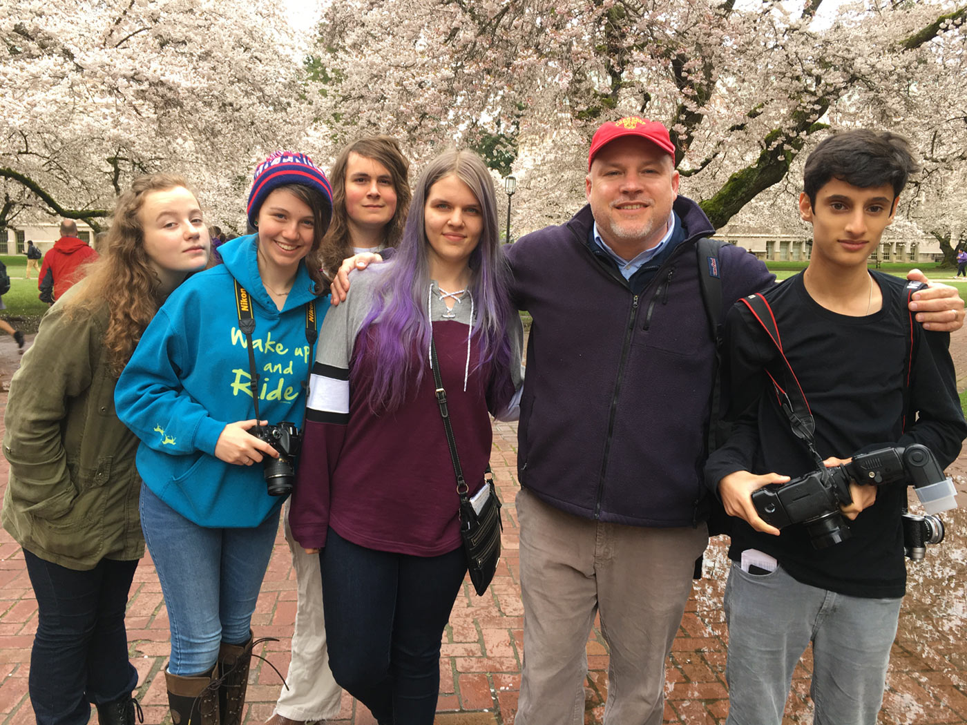 USL US Students with Head of School Kreutner